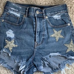Express dimond star shorts